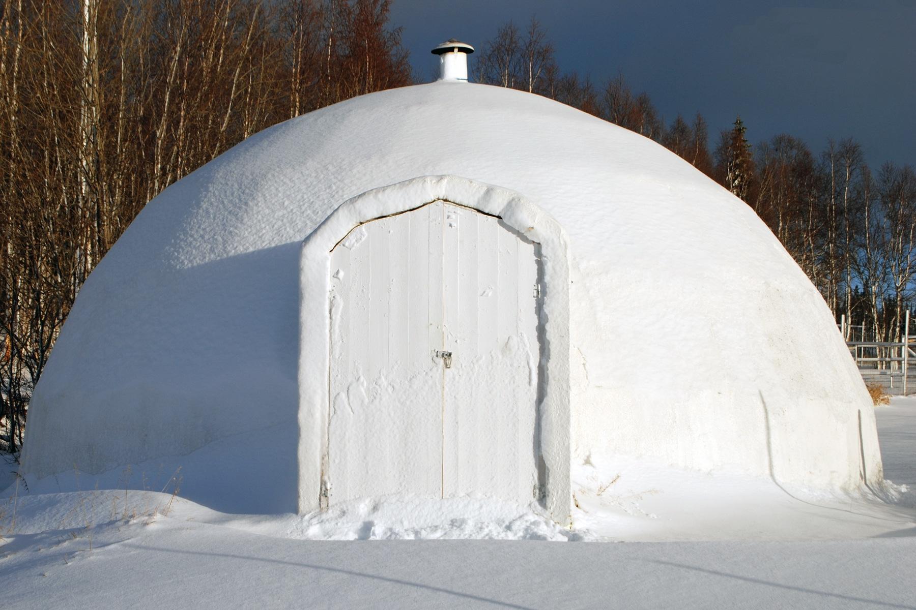 Middag i en igloo i Vemdalen