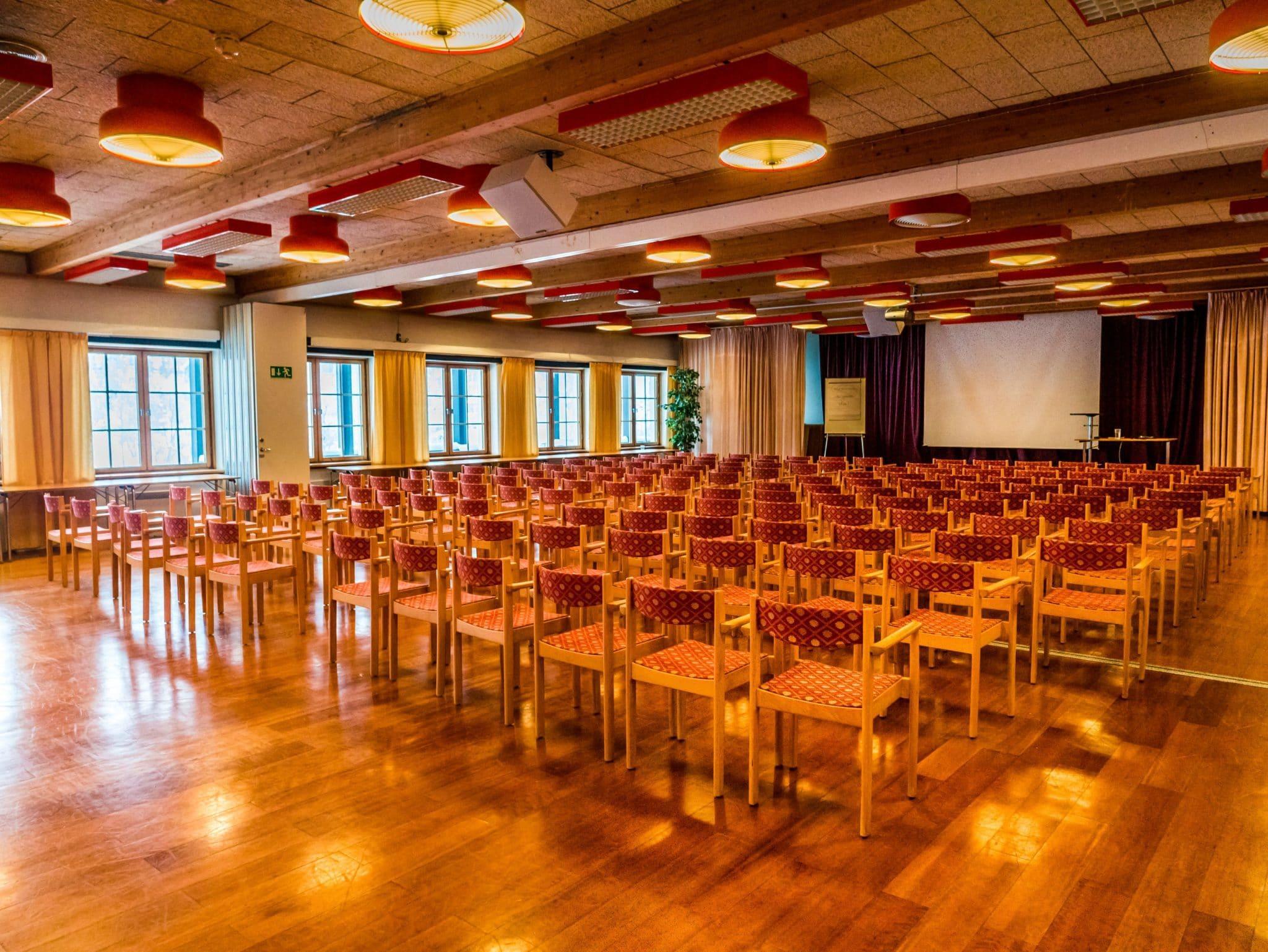 Konferens i Vemdalen. Hovdesalen 1 och 2, 250 personer .