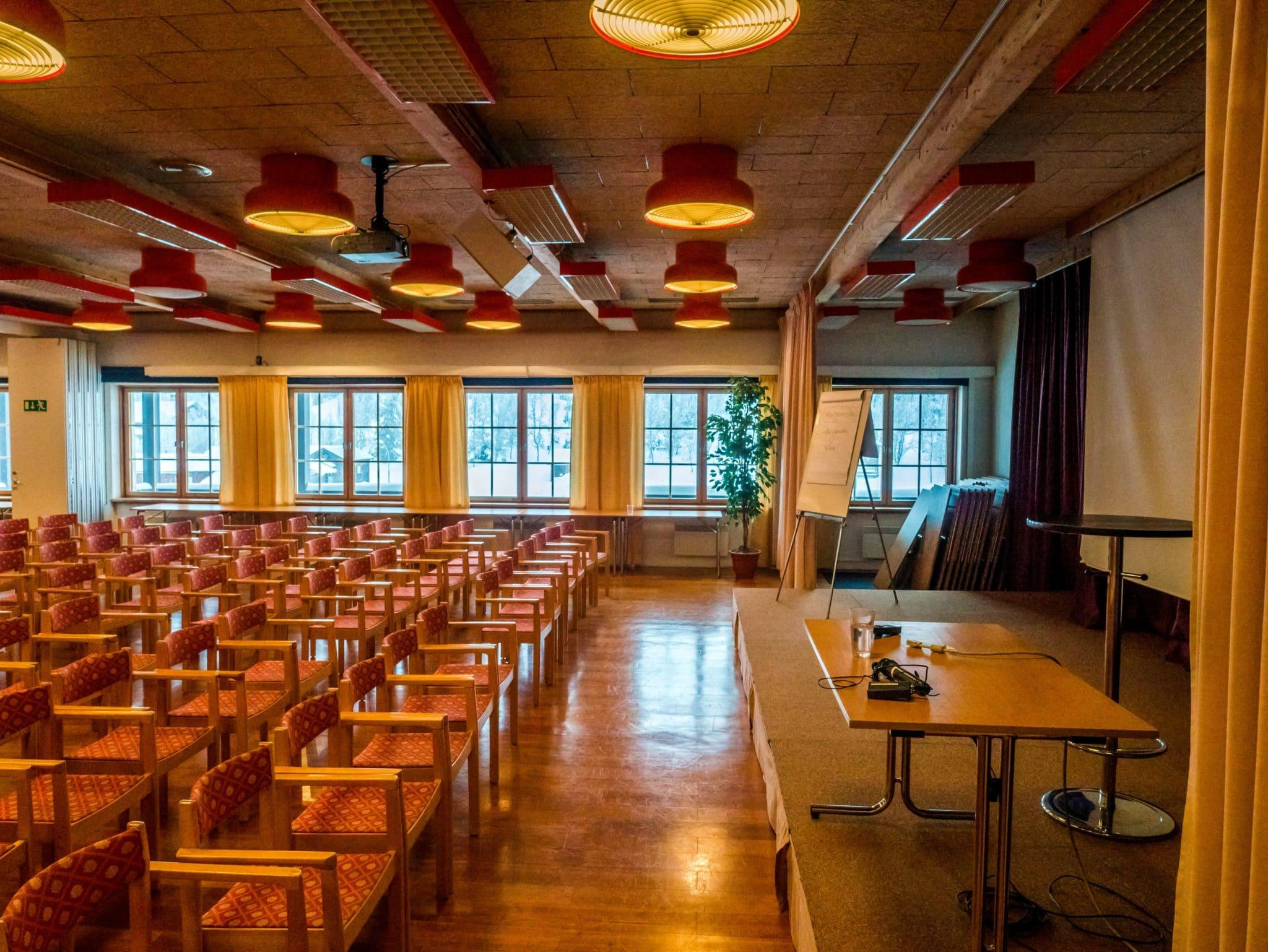 Konferens i Vemdalen. Hovdesalen 1, 125 personer