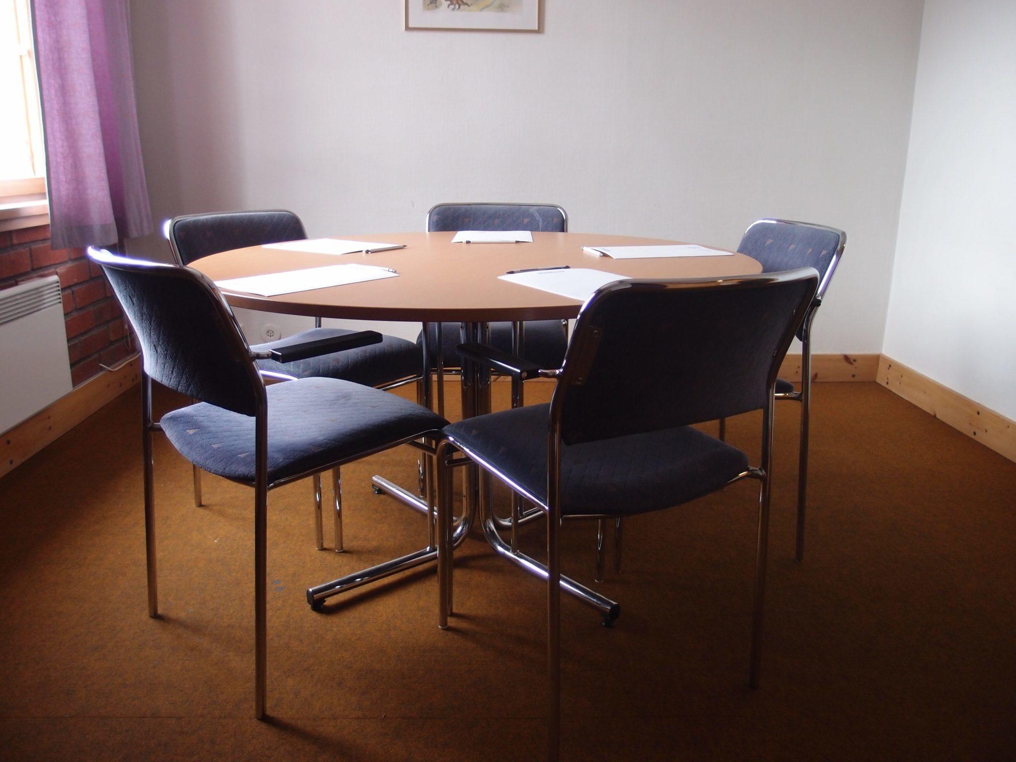 Konferens i Vemdalen. Grupprum, 7-8 personer